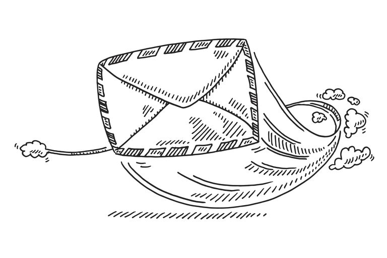 Air Mail Letter Flying Drawing