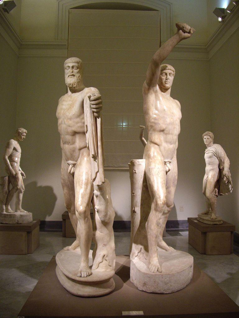 Tyrannicides Aristogeiton and Harmodian assassins of Hipparchos of Athens