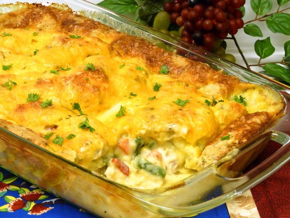 Chicken pot pie casserole recipe, poultry, receipt