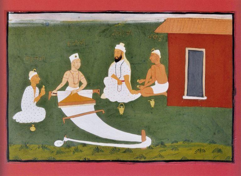 Saint Kabir with Namdeva, Raidas and Pipaji