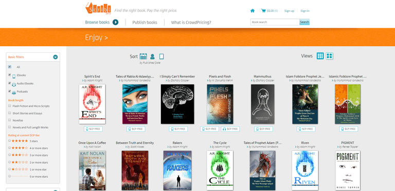 Scribl is an online source for free and inexpensive audio books.