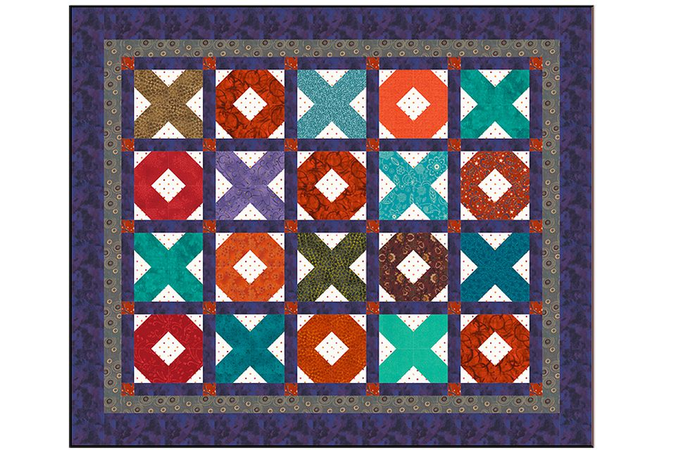 X's and O's Baby Quilt Pattern