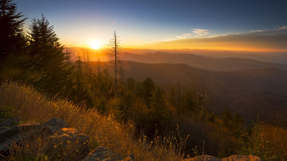 Sunrise at Clingman's Dome in the Great Smoky Mountains National Park.
