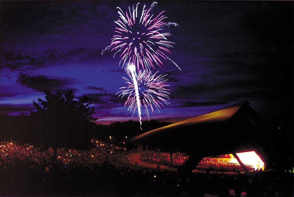 Fireworks at Blossom Music Center, Cuyahoga Falls Ohio