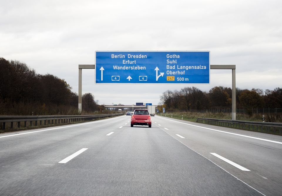 Autobahn in Germany