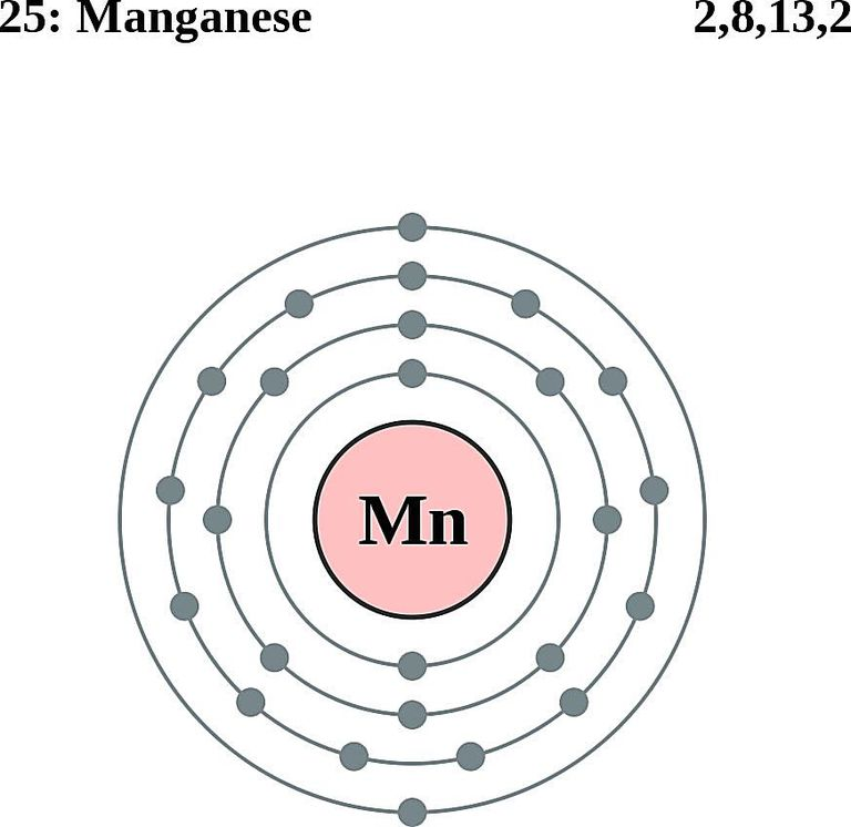 Atoms diagrams electron configurations of elements manganese atom electron shell diagram ccuart Gallery