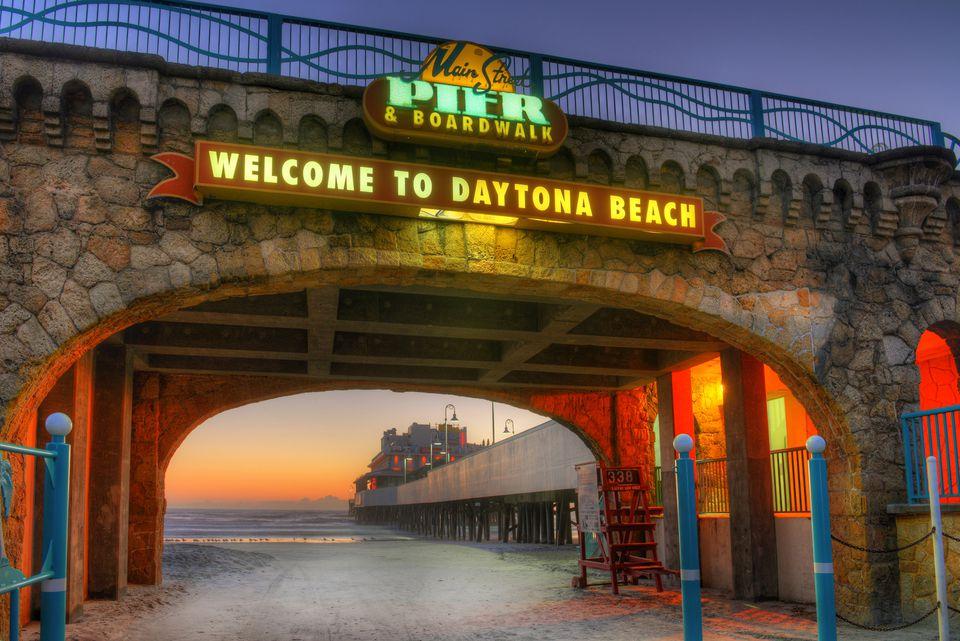Daytona Beach's Main Street Pier and Boardwalk Entrance