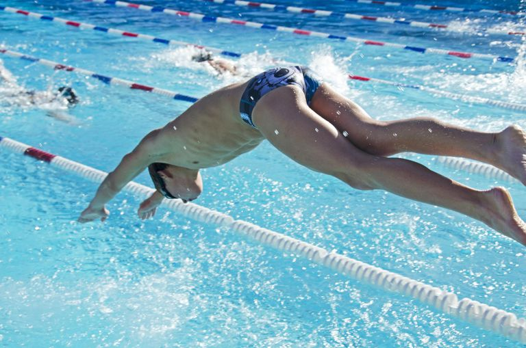 High School swimmer