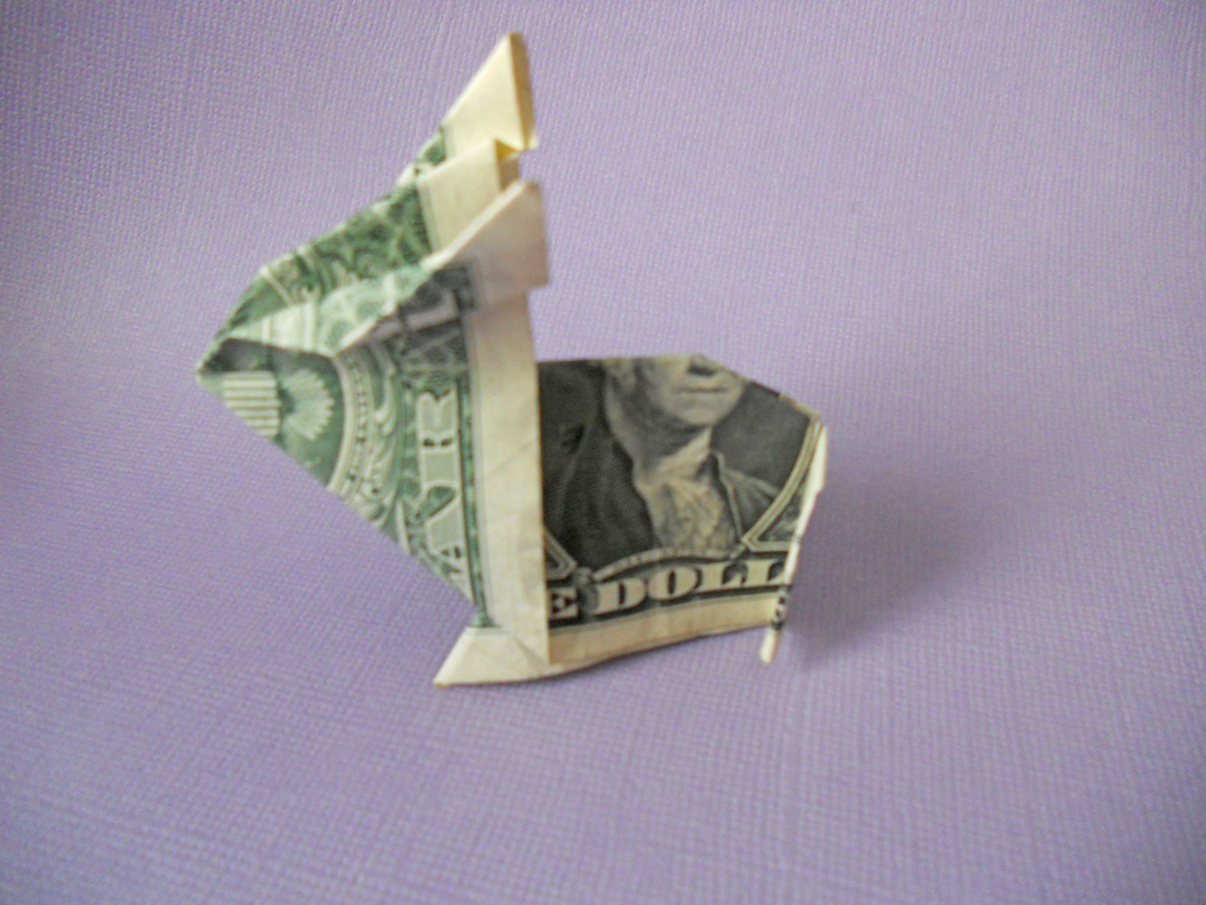Learn How to Make a Crafty Origami Bunny Out of Cash - photo#49