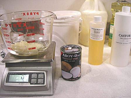 Coconut Milk Soap Ingredients