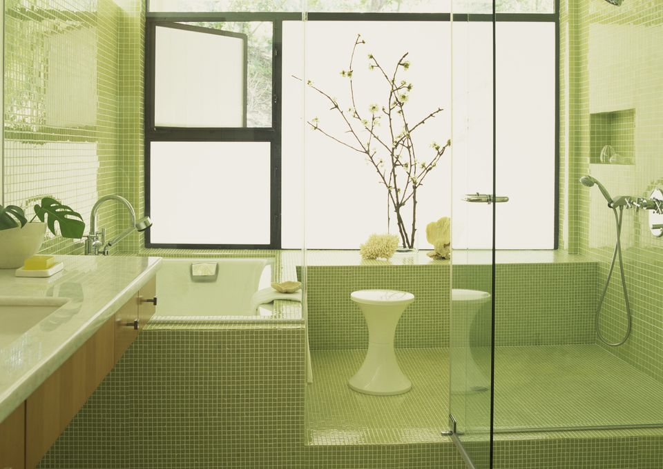 modern bath shower and sink - Kitchen Bathroom Tiles