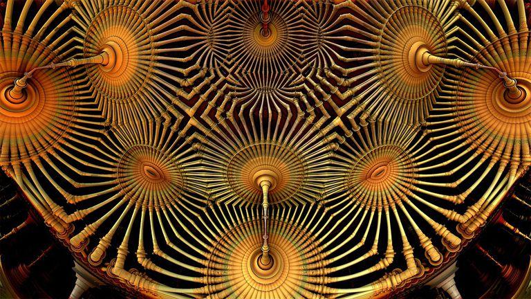 Quantum computer illustration