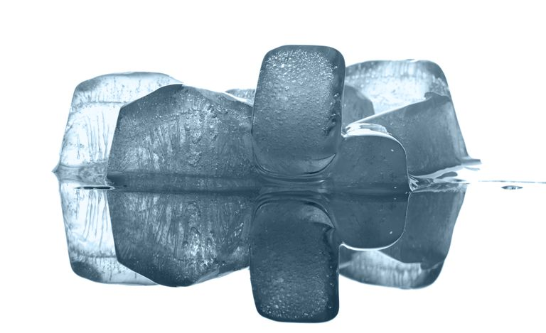 Ice is less dense than water, so it floats.