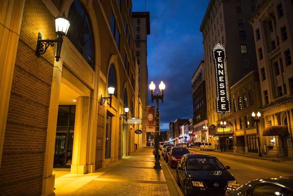 Gay Street and Tennessee Theater in Knoxville