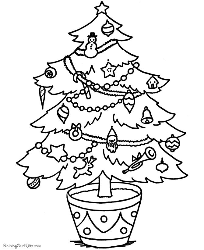 113 free christmas tree coloring pages for the kids - Coloring Page Christmas Tree