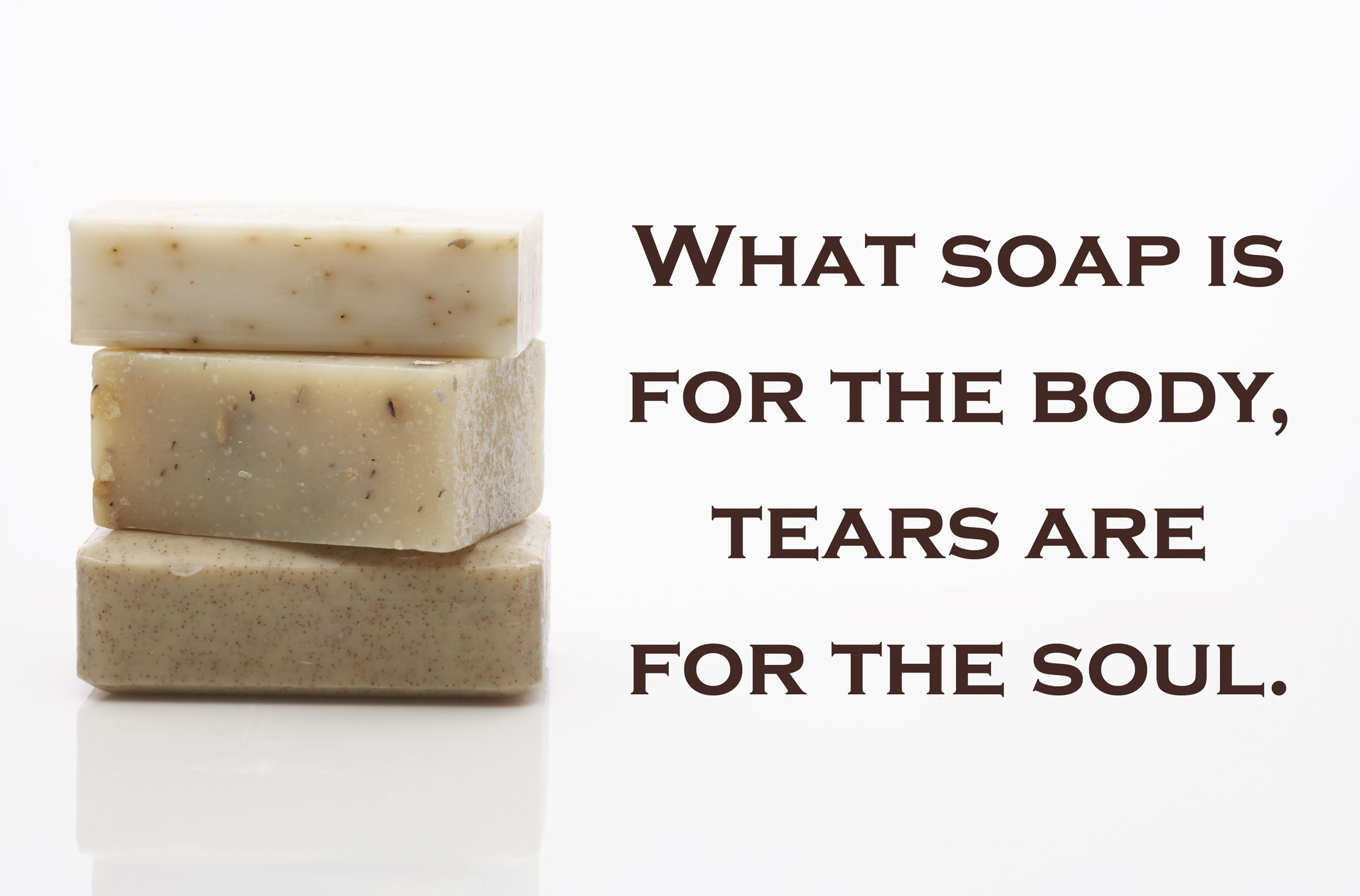 Soap bars and quote