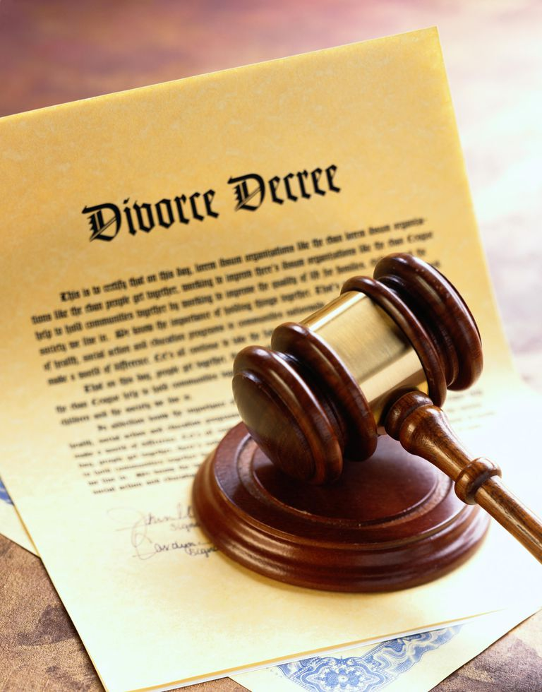 Divorce Decree and Gavel