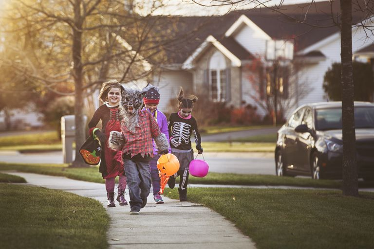 Trick-or-treaters may trigger social anxiety.