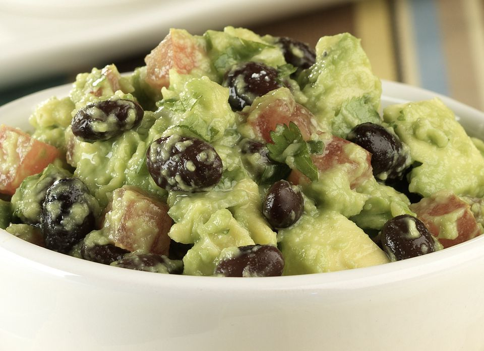 Easy Black Bean Guacamole - vegetarian, vegan and gluten-free