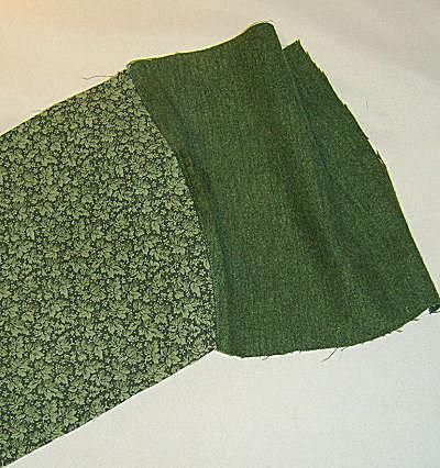 A photo showing completed under stitching