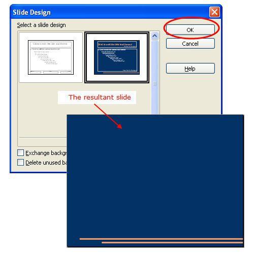 how to change slide design in openoffice impress