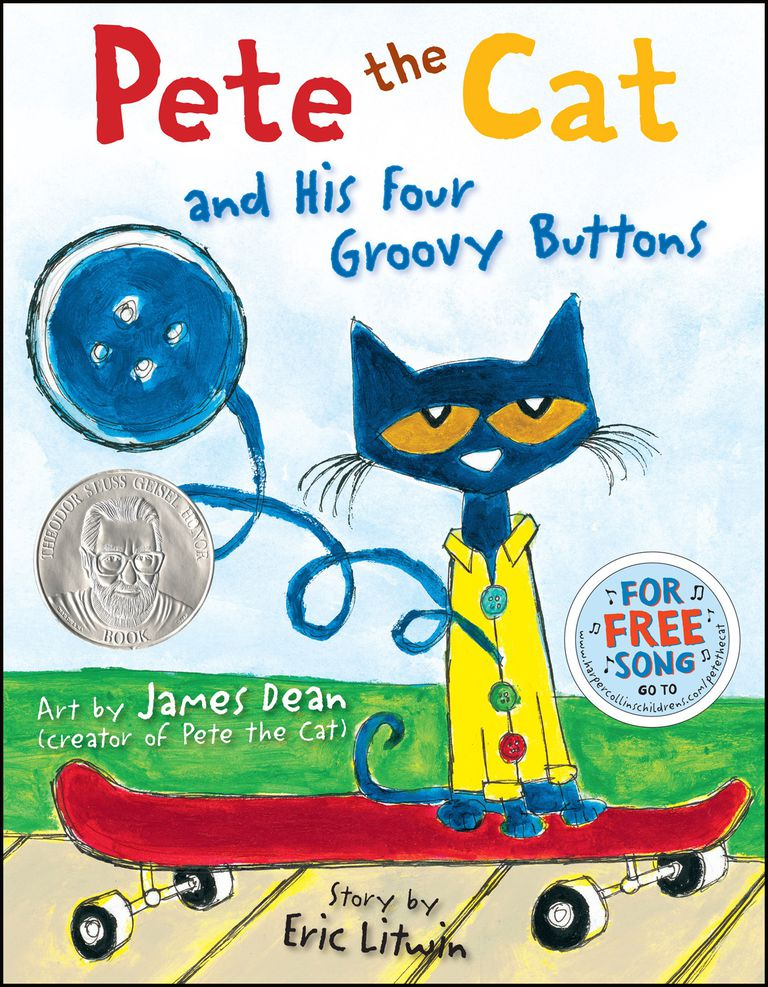 Pete the Cat and His Four Groovy Buttons - picture book cover