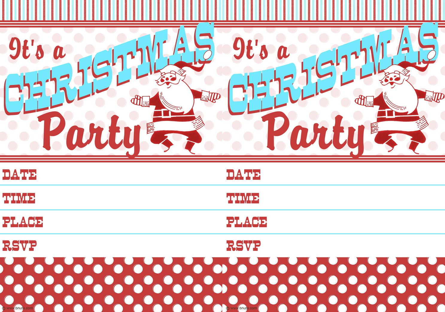 15 free christmas party invitations that you can print - Free Christmas Party Invitations