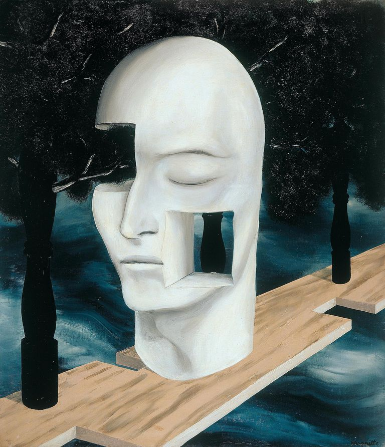 René Magritte - The Face of Genius, 1926-27