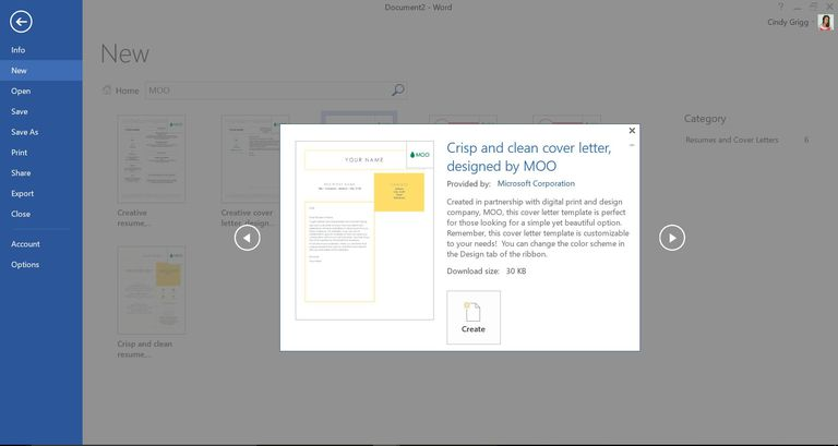 microsoft word cover letters