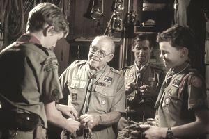 Scoutmaster with scouts.