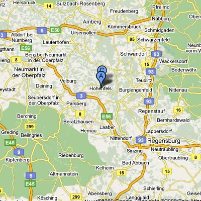 US Army Garrison Hohenfels Training Area Overview - Germany map us army bases