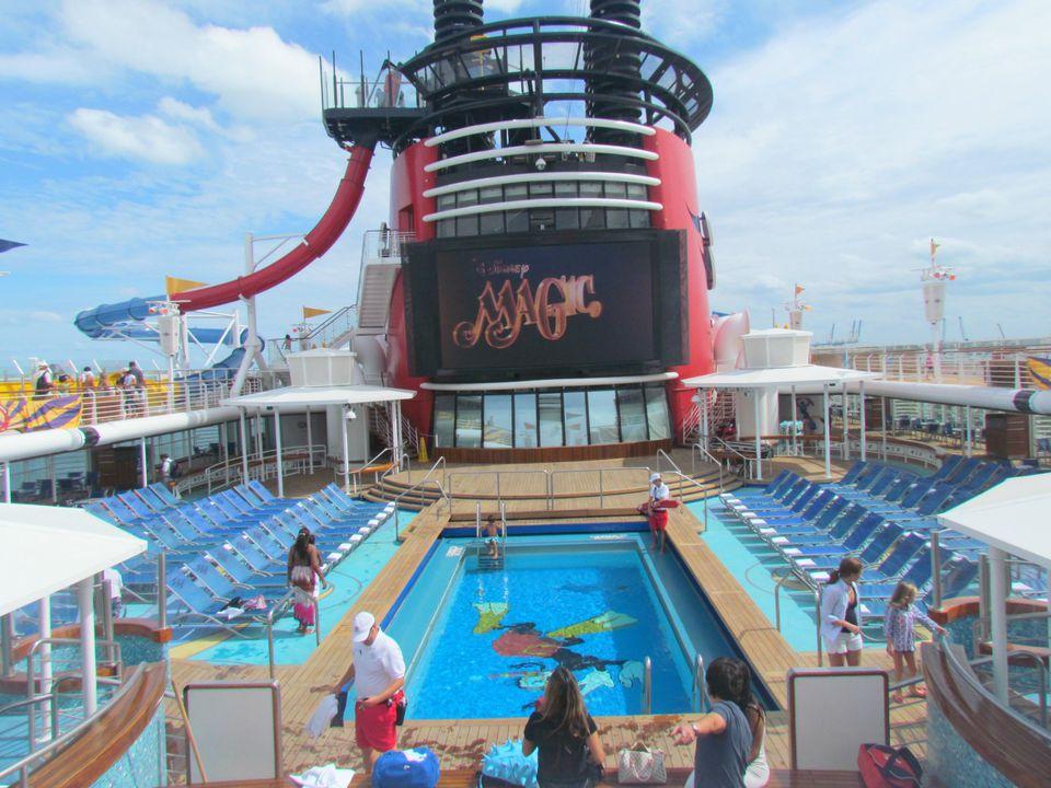 PHOTOS AquaDunk Water Slide On The Disney Magic - Disney magic cruise ship pictures
