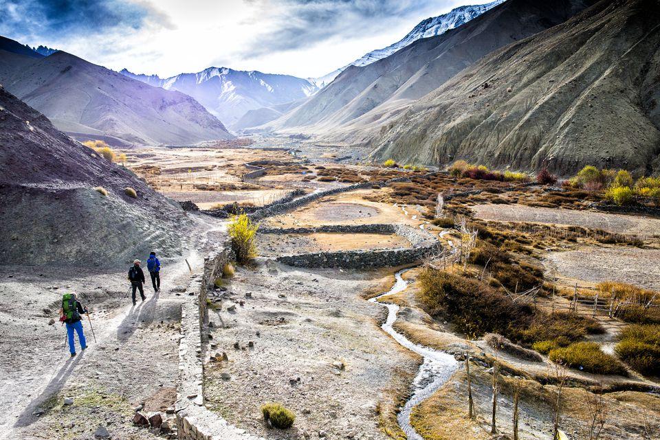 Towards Stok La from Rumbak village in Ladakh.