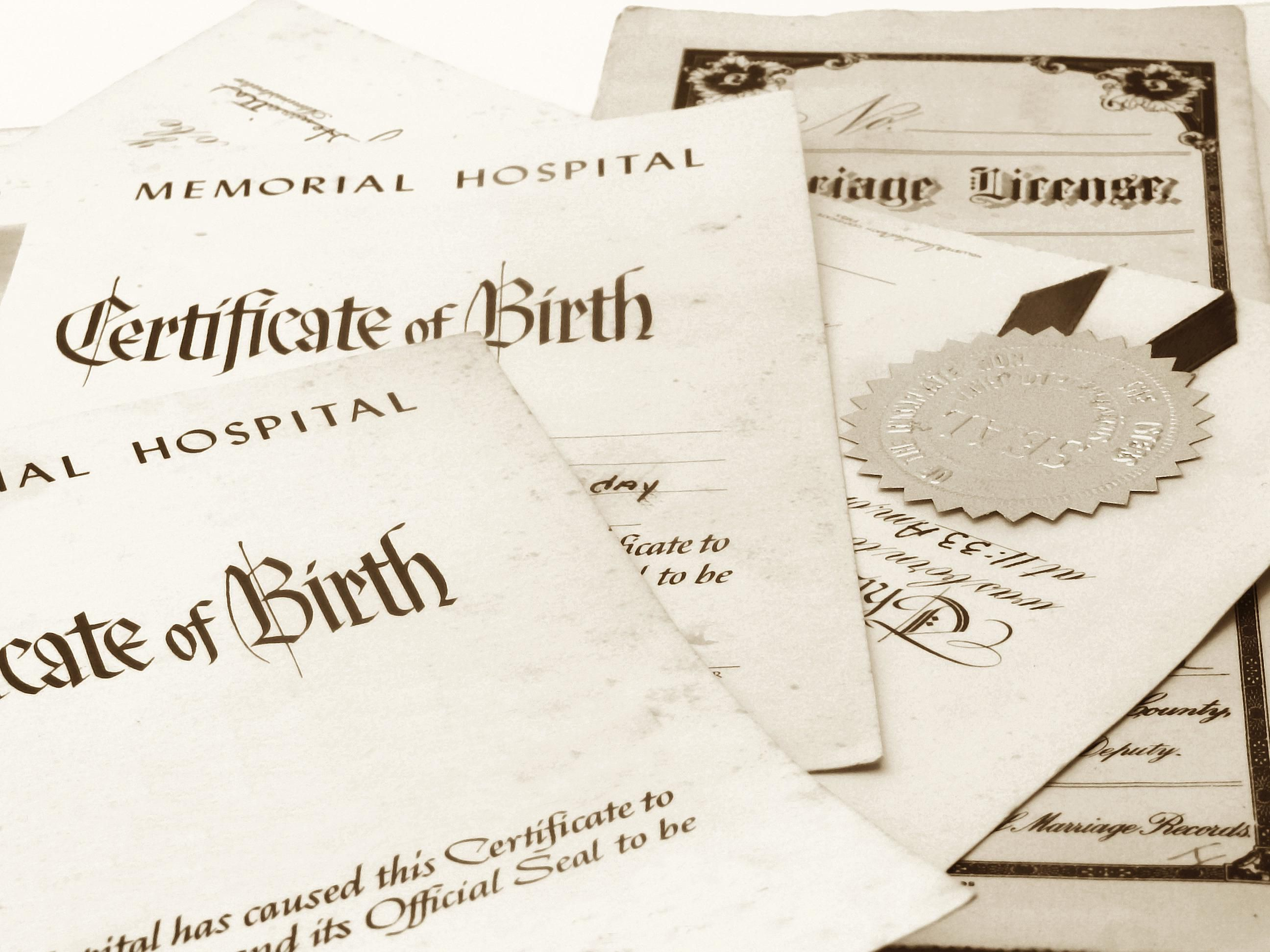 Us vital records where to get birth death and marriage certificates xflitez Gallery