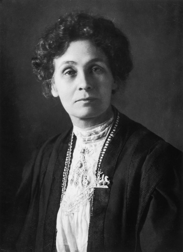 A picture of women's rights activist, Emmeline Pankhurst.