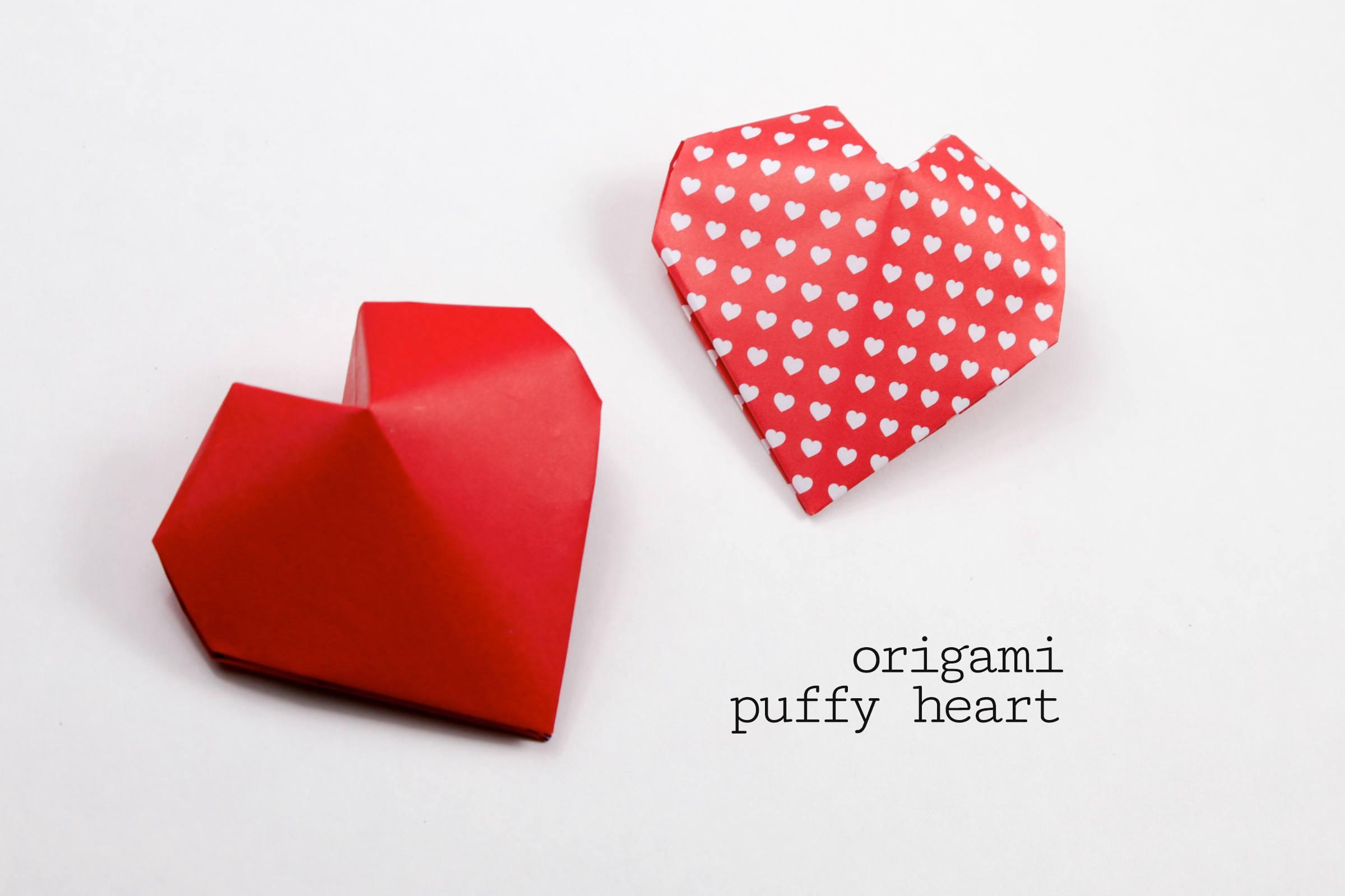 Origami puffy heart instructions jeuxipadfo Choice Image