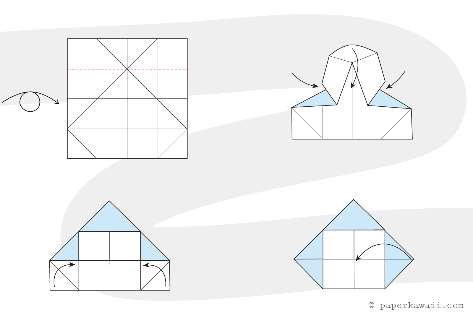 How to make a simple origami house jeuxipadfo Gallery