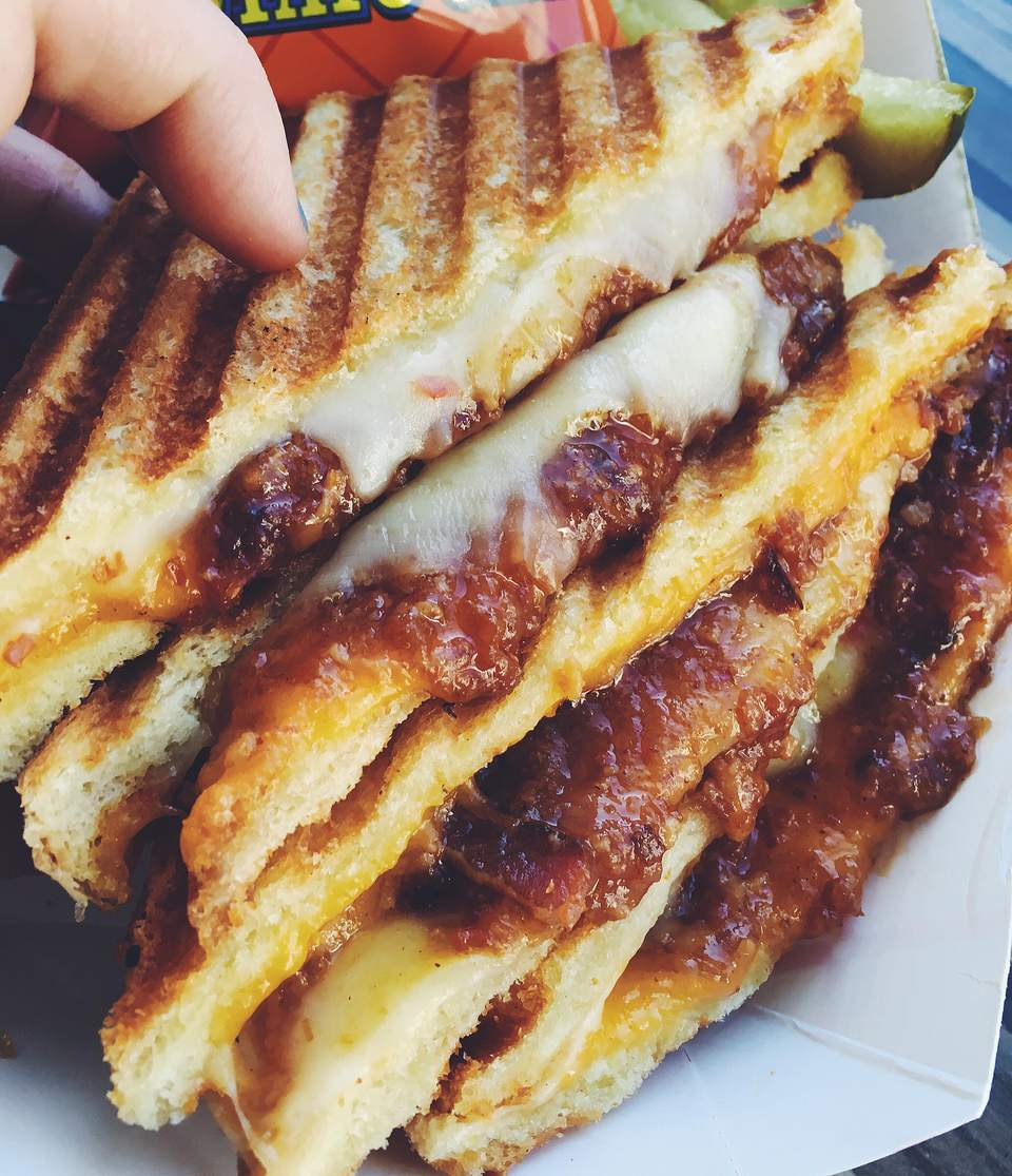 Bacon Jam Grilled Cheese with Pickled Jalapenos