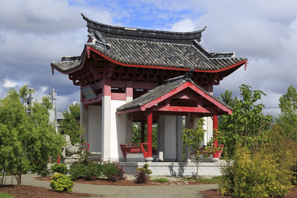 Pavilion in Chinese Reconciliation Park,Tacoma