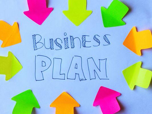 Sign saying Business Plan