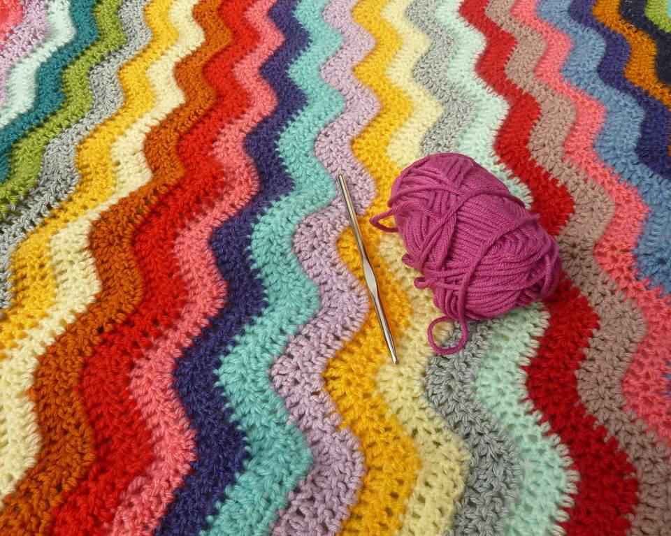 Crochet blanket and needle