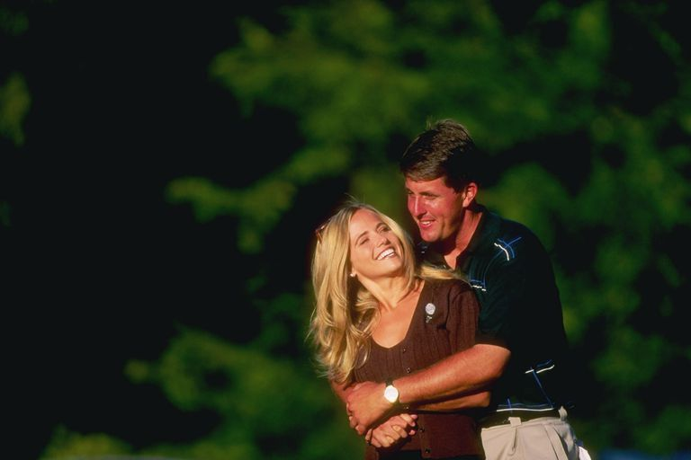 Phil and Amy Mickelson at the 1997 NEC World Series of Golf