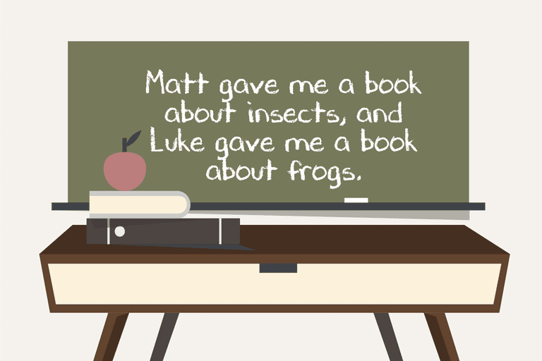Illustration of a sentence that demonstrates the use of objects in grammar
