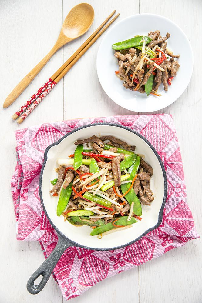 Stir-fry Beef with Mung Bean Sprouts