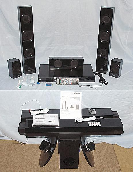 Panasonic SC-BTT195 Blu-ray Home Theater System - Photo of Front View with Accessories