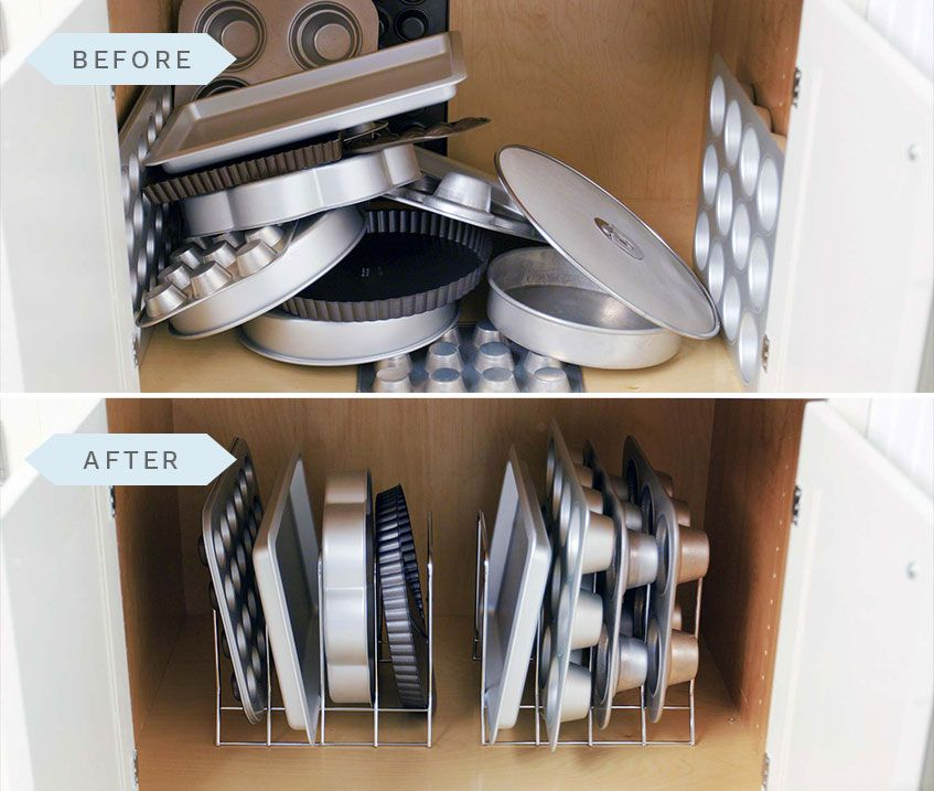 Stacking Bakeware Instead of Storing It Vertically