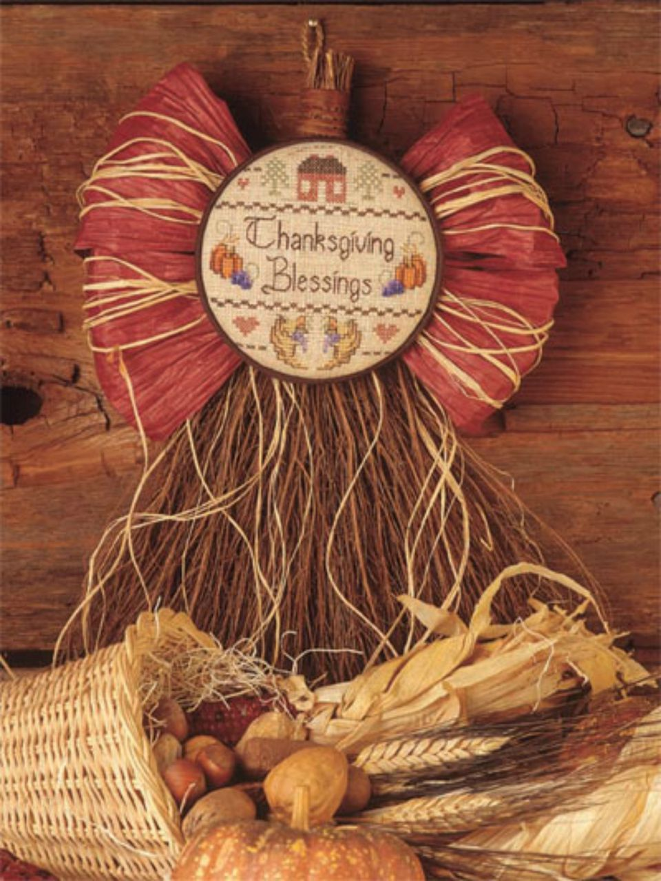 thanksgiving blessings cross stitch pattern