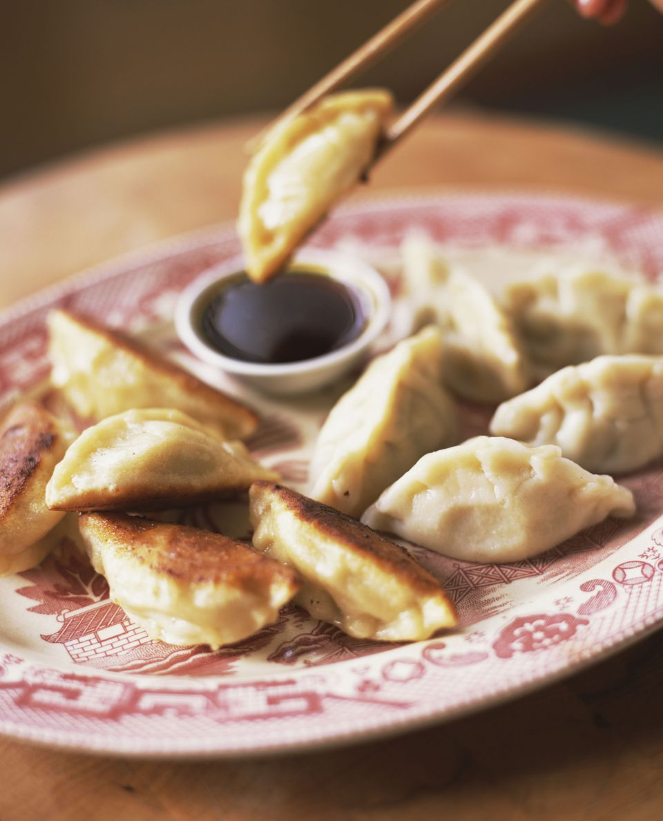 Potstickers and soy ginger sauce