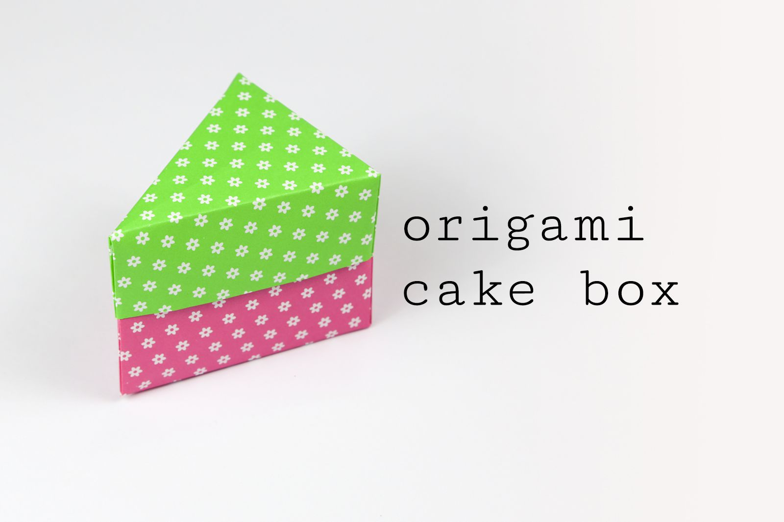 Origami cake box tutorial jeuxipadfo Choice Image