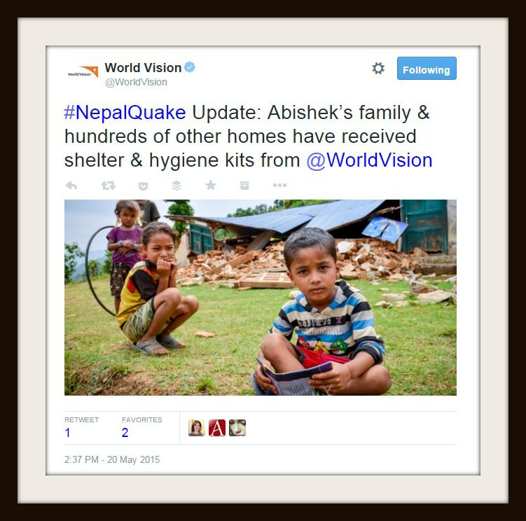 Children in Nepal who have been helped by World Vision.